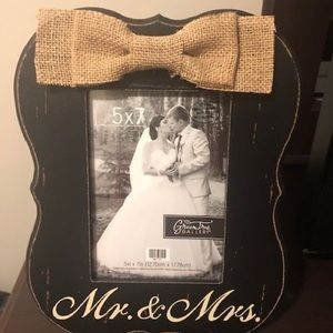 Mr and Mrs Photo Frame - Brand New